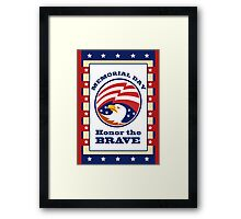 American Eagle Memorial Day Poster Greeting Card Framed Print
