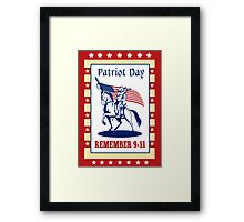 American Patriot Day Remember 911  Poster Greeting Card Framed Print
