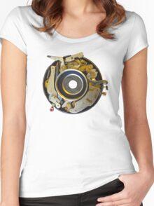Antique Camera Lens Shutter Women's Fitted Scoop T-Shirt