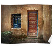 Red Door ~ Blue Window  Poster