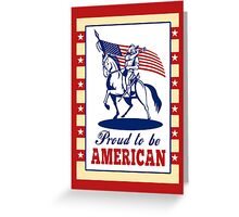 American Patriot Independence Day Poster Greeting Card Greeting Card