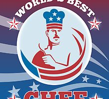 World's Best American Chef Greeting Card Poster by patrimonio