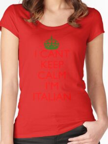 Italian Keep Calm Women's Fitted Scoop T-Shirt
