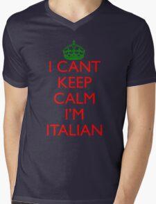 Italian Keep Calm Mens V-Neck T-Shirt