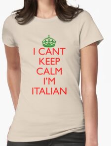 Italian Keep Calm Womens Fitted T-Shirt