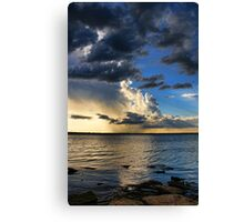 Clouds, Rays and Rain Canvas Print