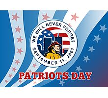 American Patriot Day Remember 911  Poster Greeting Card Photographic Print