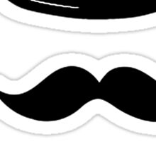 Hat, mustache and bow tie t-shirt/hoodie/sticker  Sticker