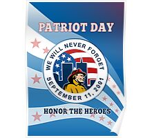 American Patriot Day Remember 911  Poster Greeting Card Poster