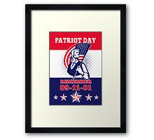 American Patriot Day Poster 911 Greeting Card Framed Print