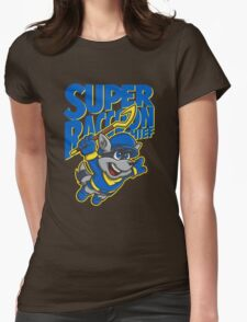 Super Raccoon Thief Womens Fitted T-Shirt