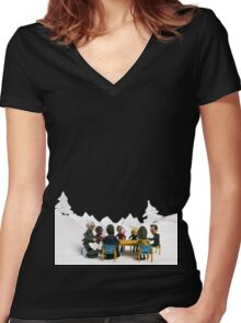 The Study Group's Winter Wonderland Women's Fitted V-Neck T-Shirt