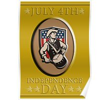American Patriot Independence Day Poster Greeting Card Poster
