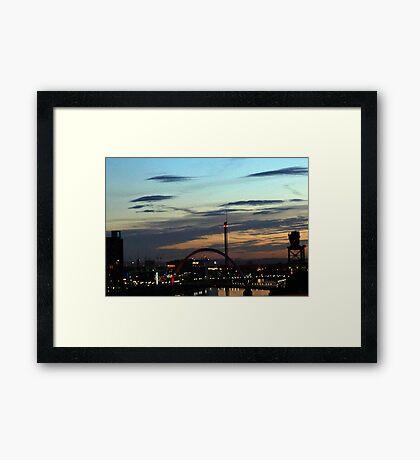 Good Night Glasgow Framed Print