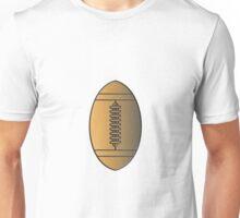 american football ball gold metallic Unisex T-Shirt
