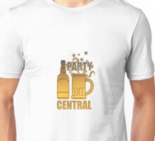 golden beer bottle mug party central Unisex T-Shirt