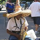 Saxophone Player II by Lorelle Gromus