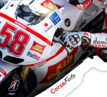 Marco Simoncelli in Mugello 2011 Sticker