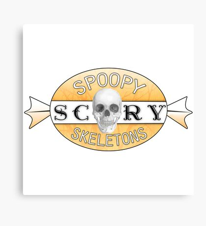 Spoopy Scary Skeletons Canvas Print