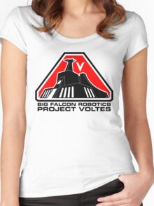 Project Voltes Dev Team Tee (Black Text) Women's Fitted Scoop T-Shirt