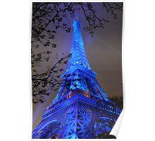 PARIS, FRANCE - Blue Eiffel Tower Poster