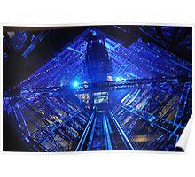 PARIS, FRANCE - Blue Eiffel Tower - Interior Poster