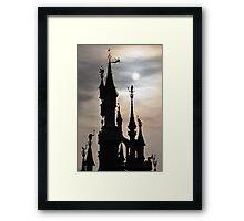 PARIS, FRANCE - Disneyland Paris Castle backlit Framed Print