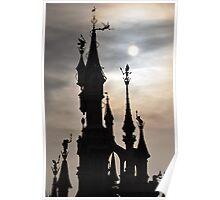 PARIS, FRANCE - Disneyland Paris Castle backlit Poster