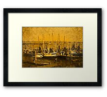 Working Boats Framed Print