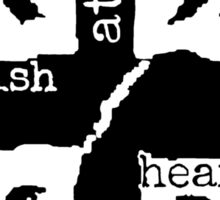 Brit at Heart (Black) Sticker