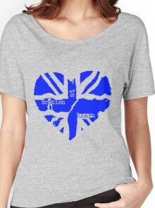 Brit At Heart (blue) Women's Relaxed Fit T-Shirt