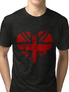 Brit At Heart (Red) Tri-blend T-Shirt