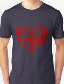 Brit At Heart (Red) Unisex T-Shirt