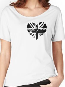 British At Heart (pocket) Women's Relaxed Fit T-Shirt