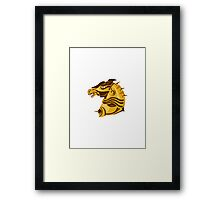 war horse side view with armor retro Framed Print