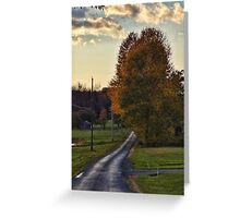 An evening ride Greeting Card