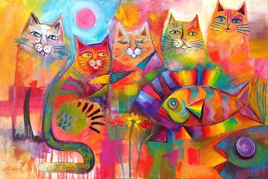 Cats & Fish  by Karin Zeller