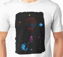 Dreaming cosmonaut with air balloon Unisex T-Shirt