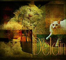 Three poses of Delain by Scott Mitchell