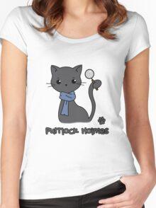 Purrlock Holmes Women's Fitted Scoop T-Shirt