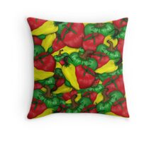 Tomatoes and Peppers Throw Pillow