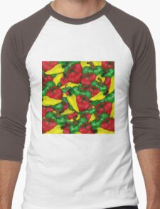 Tomatoes and Peppers Men's Baseball ¾ T-Shirt