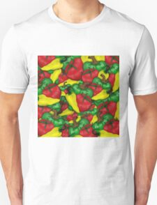 Tomatoes and Peppers Unisex T-Shirt