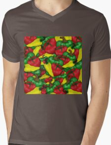 Tomatoes and Peppers Mens V-Neck T-Shirt
