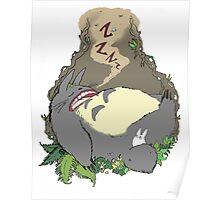 Sleepy Totoro Poster