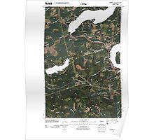 USGS Topo Map Washington State WA Summit Lake 20110418 TM Poster