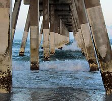 Waves Under The Pier by Cynthia48