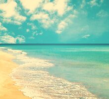 Waves of the sea (retro beach and blue sky) by Andreka
