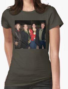 Friends enjoying the holidays Womens Fitted T-Shirt