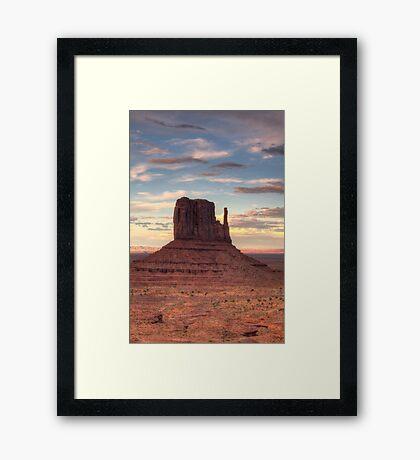 Monument Valley - West Mitten Butte Framed Print